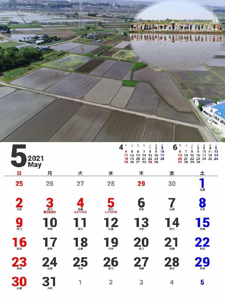 『2021年カレンダー5月』の画像