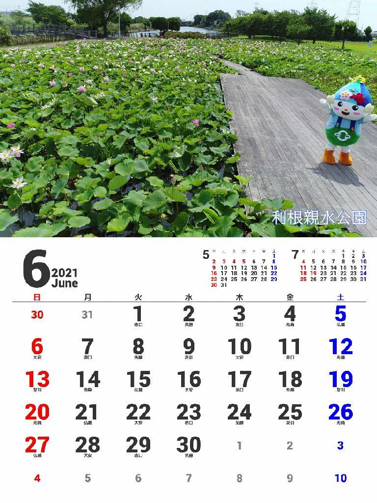 『2021年カレンダー6月』の画像